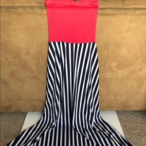 Aqua Maxi Dress Small